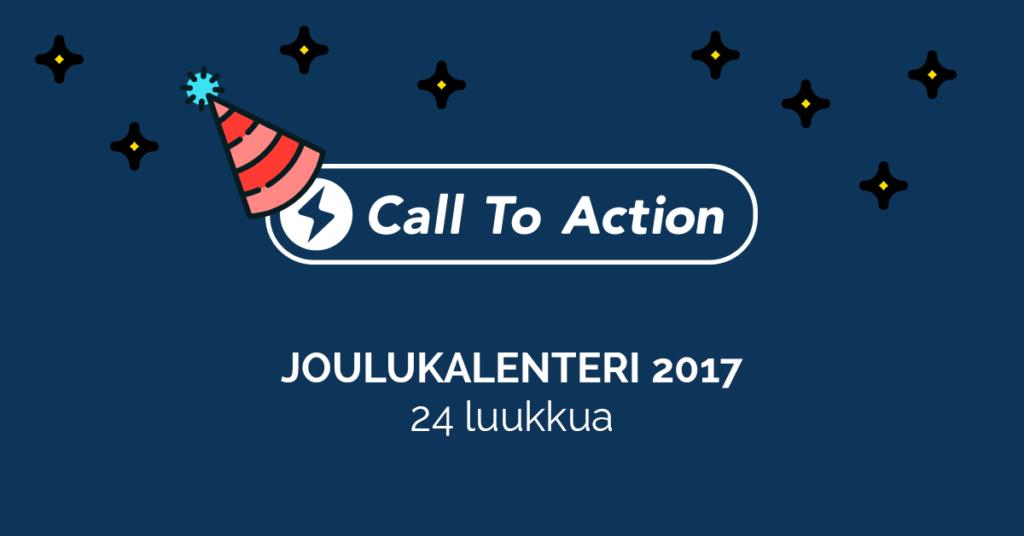 digitaalisen markkinoinnin joulukalenteri 2017 call to action