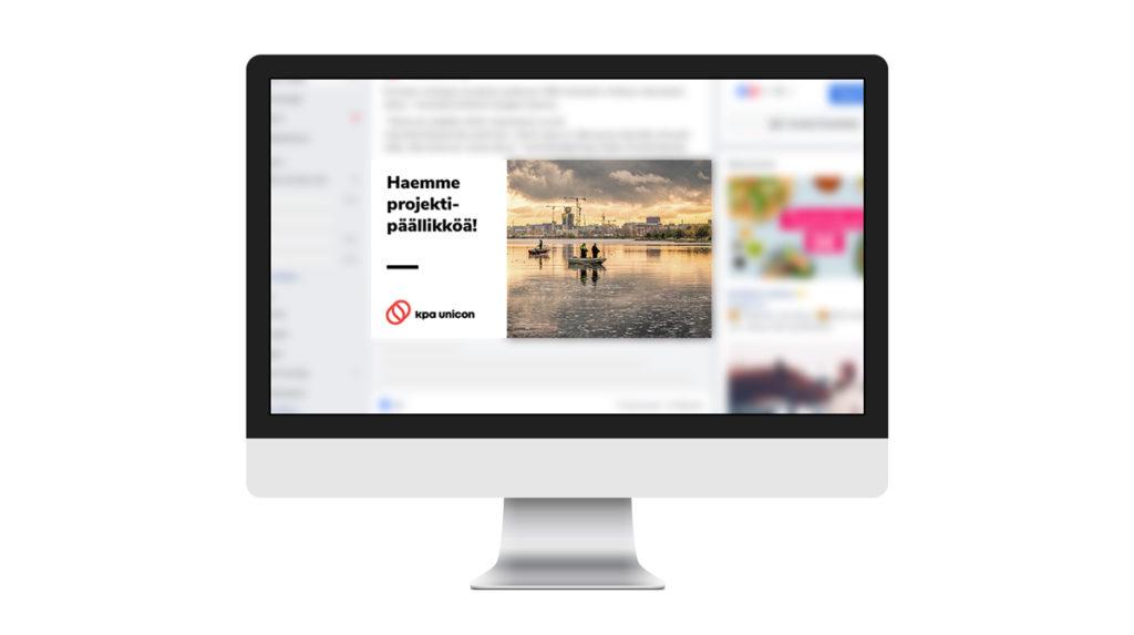KPA Unicon rekrymarkkinointi Facebook-mainos