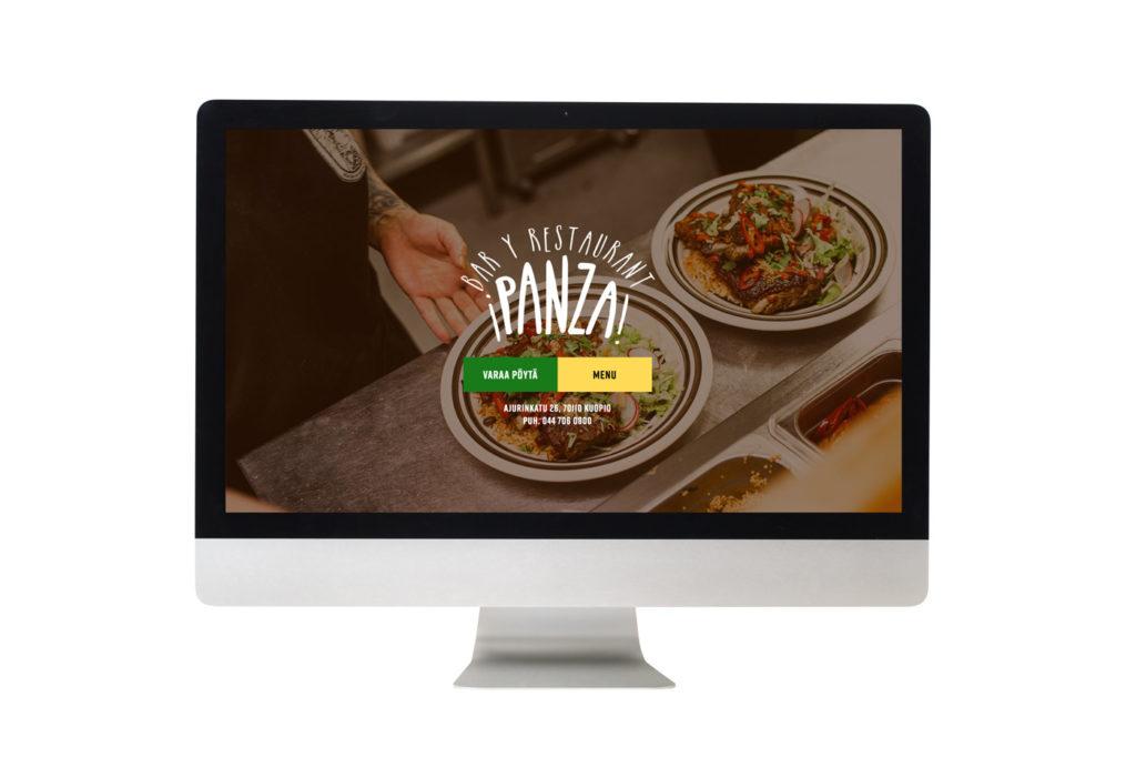 ravintola panzan kotisivut call to actionin toteuttamana