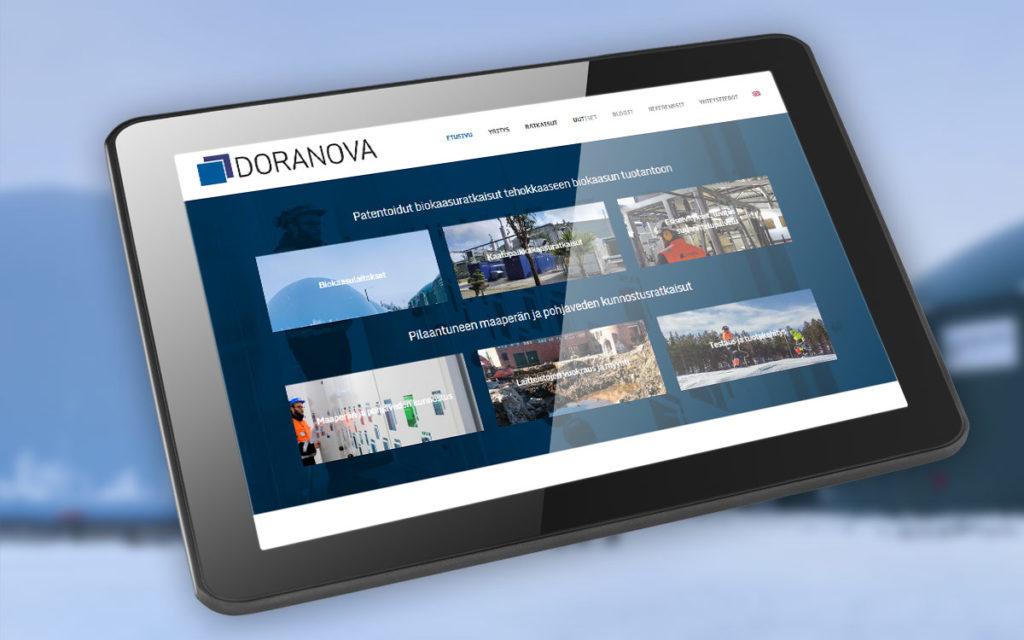 Doranova - kotisivujen suunnittelu