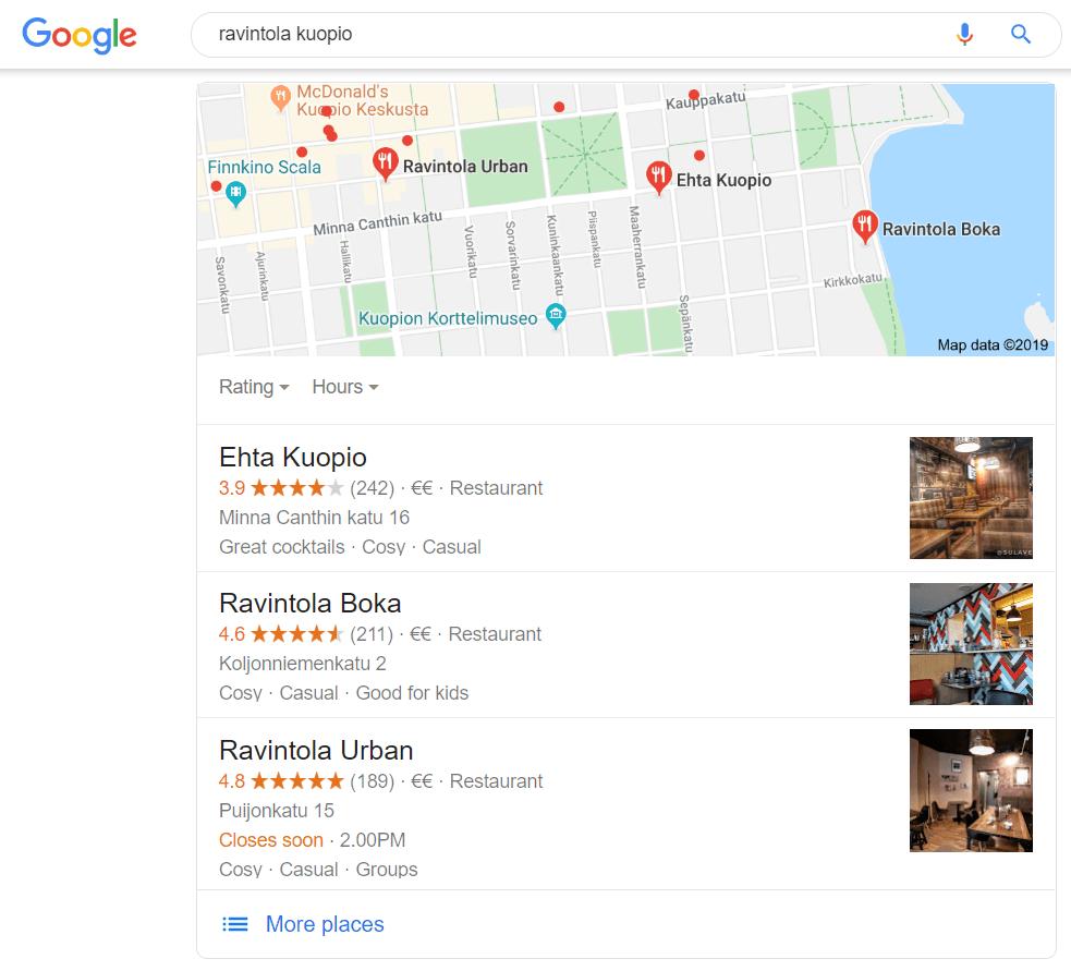 call-to-action-google-my-business-paikalliset-nostot-listaus-kuopion-ravintoloista